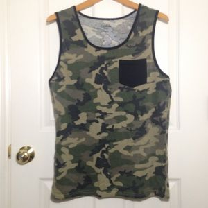 Men's Carbon Muscle Shirt With Pocket Size M